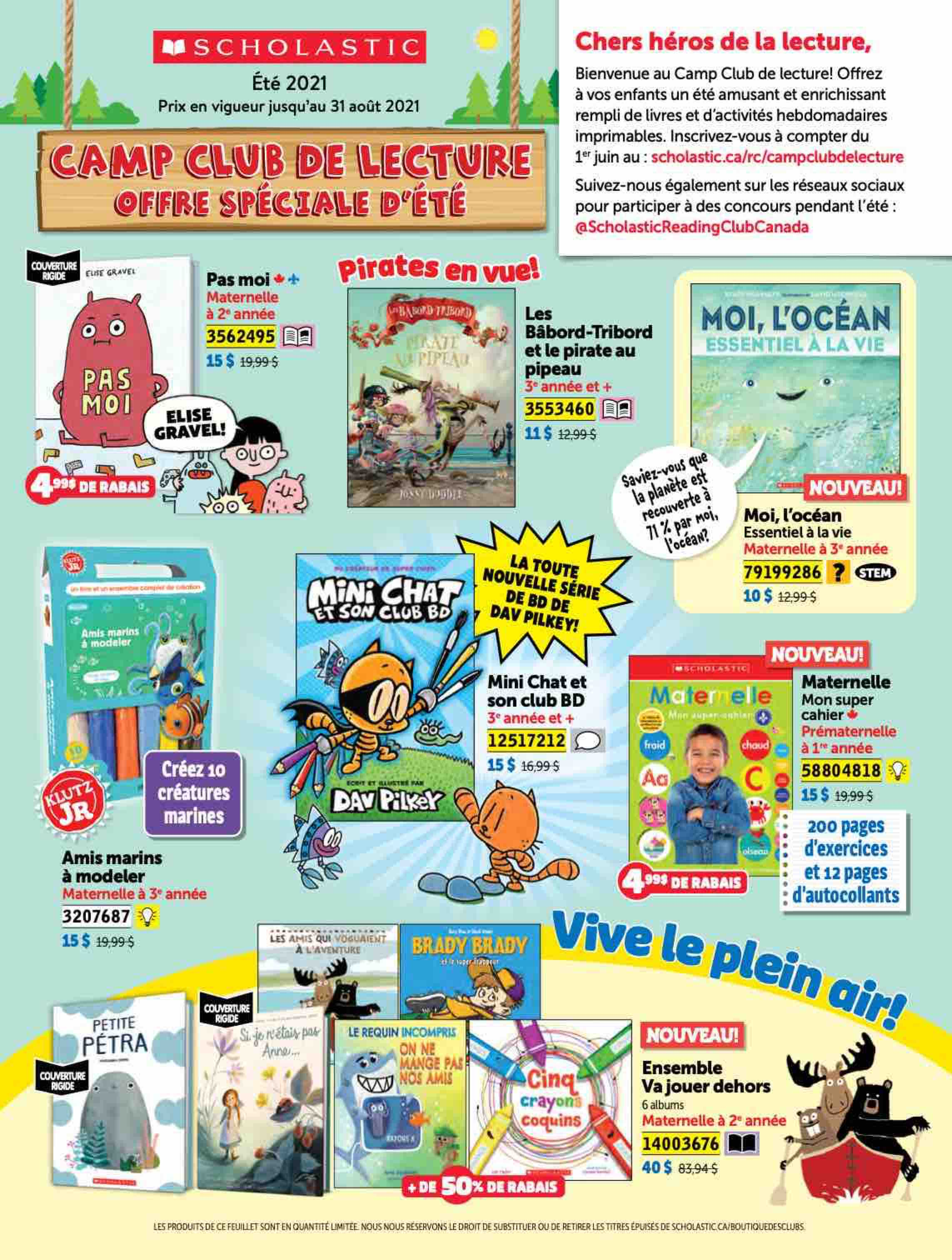 Camp Club de lecture French Flyer