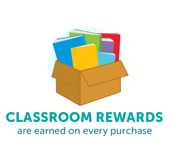 Classroom Rewards are earned on every purchase