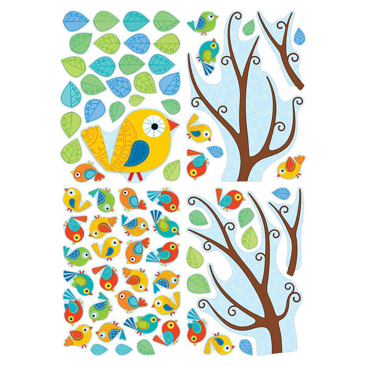 Boho Birds Bulletin Board Set