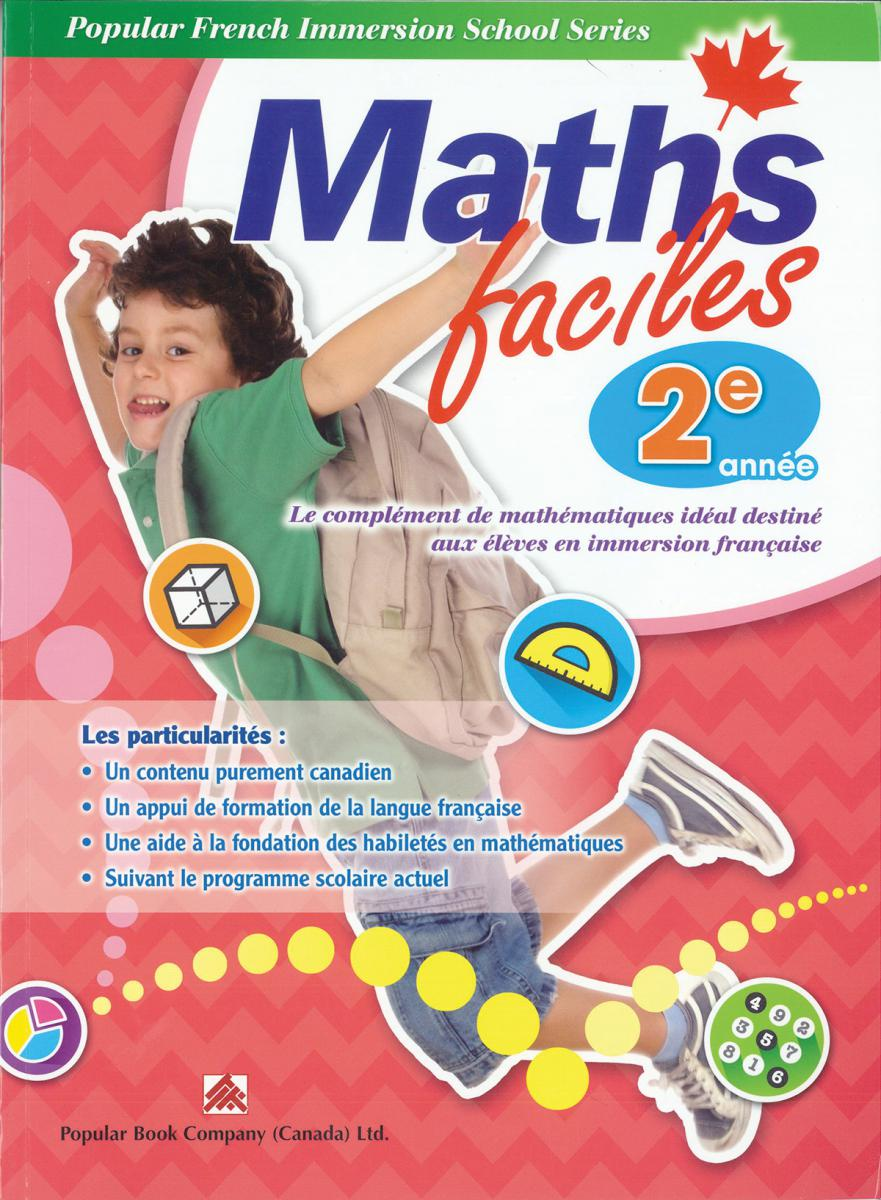 Maths faciles for French Immersion - Grade 2