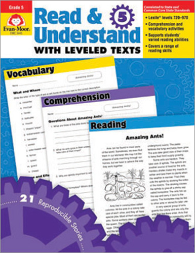 Read & Understand with Leveled Texts: Grade 5