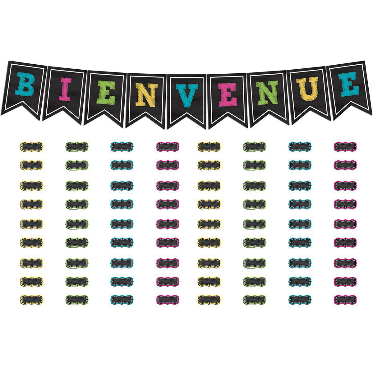 French Chalk Board Brights Welcome Bulletin Board Set