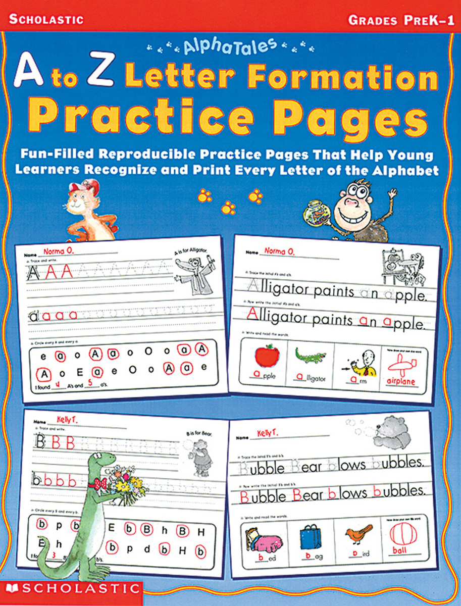 AlphaTales: A to Z Letter Formation Practice Pages