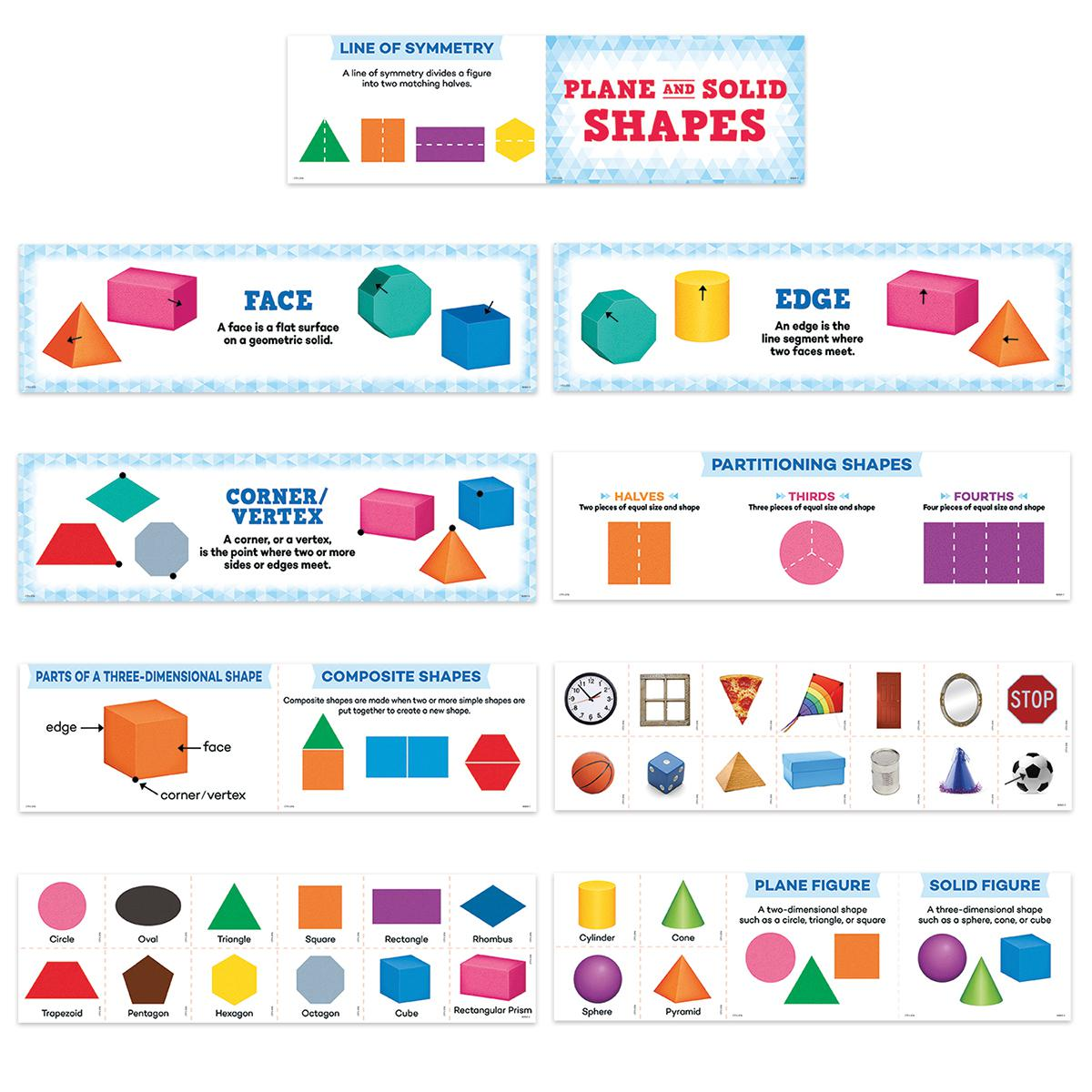 Plane and Solid Shapes Mini Bulletin Board Set