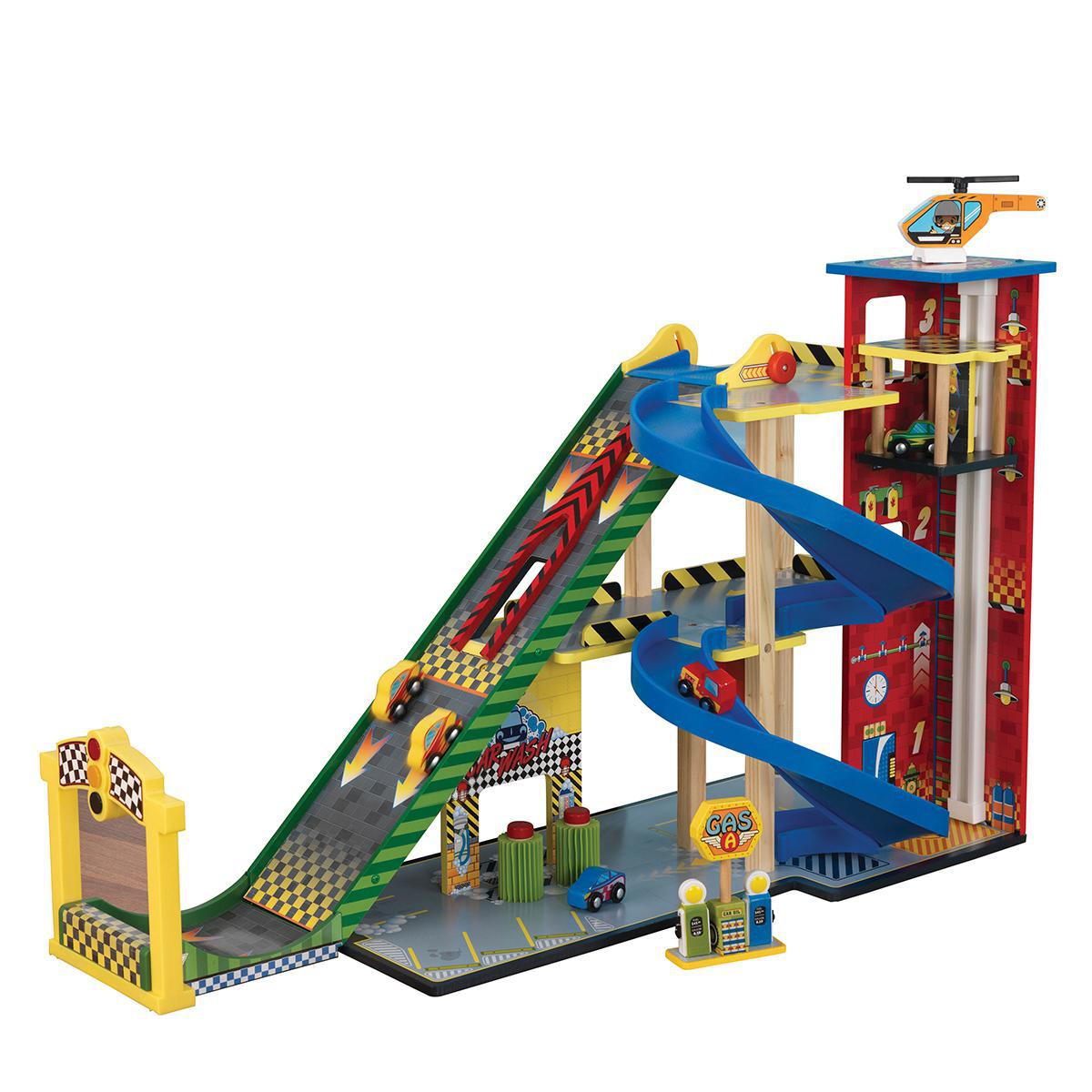 Wooden Mega Ramp Racing Set