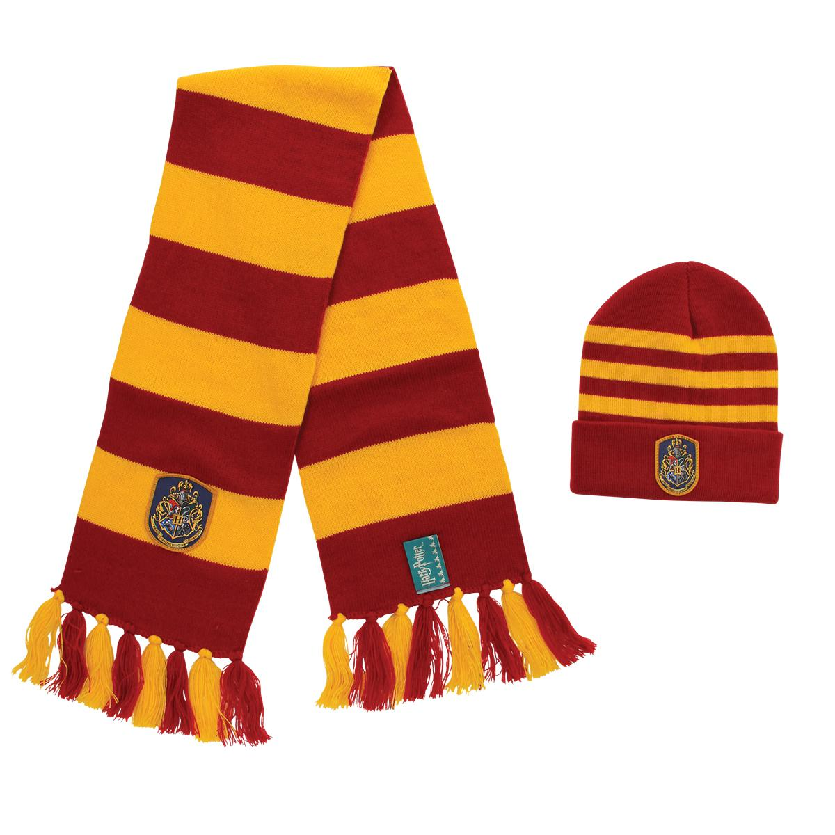Ensemble Harry Potter bonnet et écharpe en tricot Hogwarts
