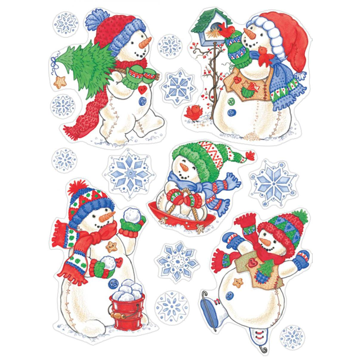 Window Clings: Snowman