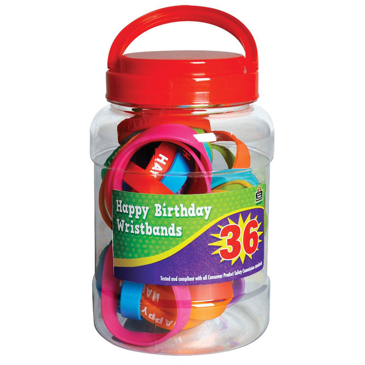 Happy Birthday Wristband Jar