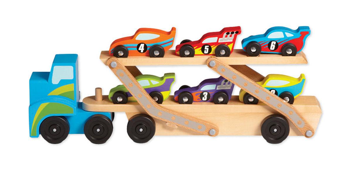 Wooden Mega Race-Car Carrier