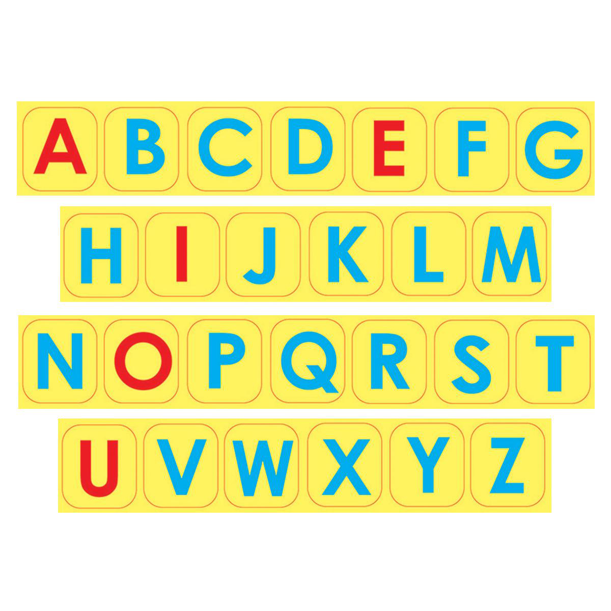 Uppercase Letter Foam Magnets
