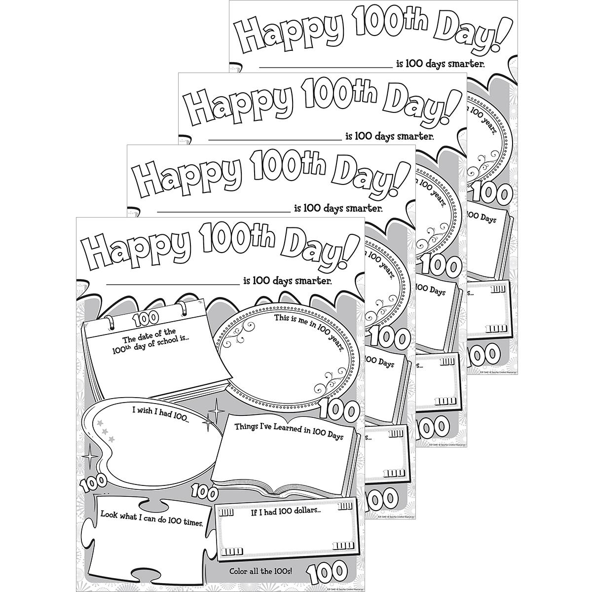 Happy 100th Day! Poster Papers