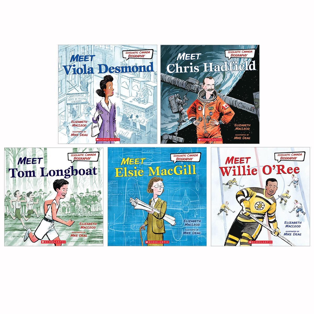 Scholastic Canada Biography 5-Pack