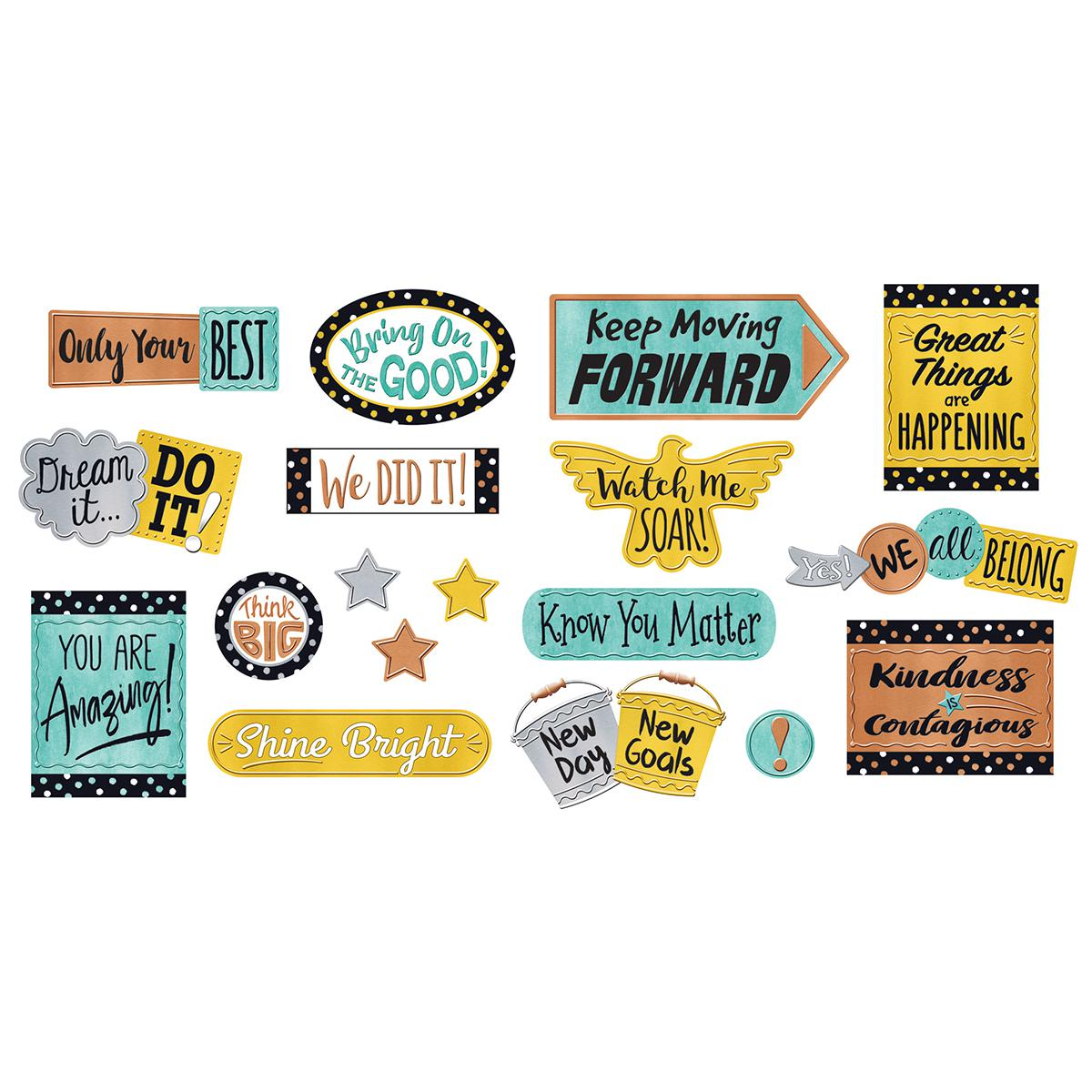 I Love Metal: Phrases Bulletin Board Set