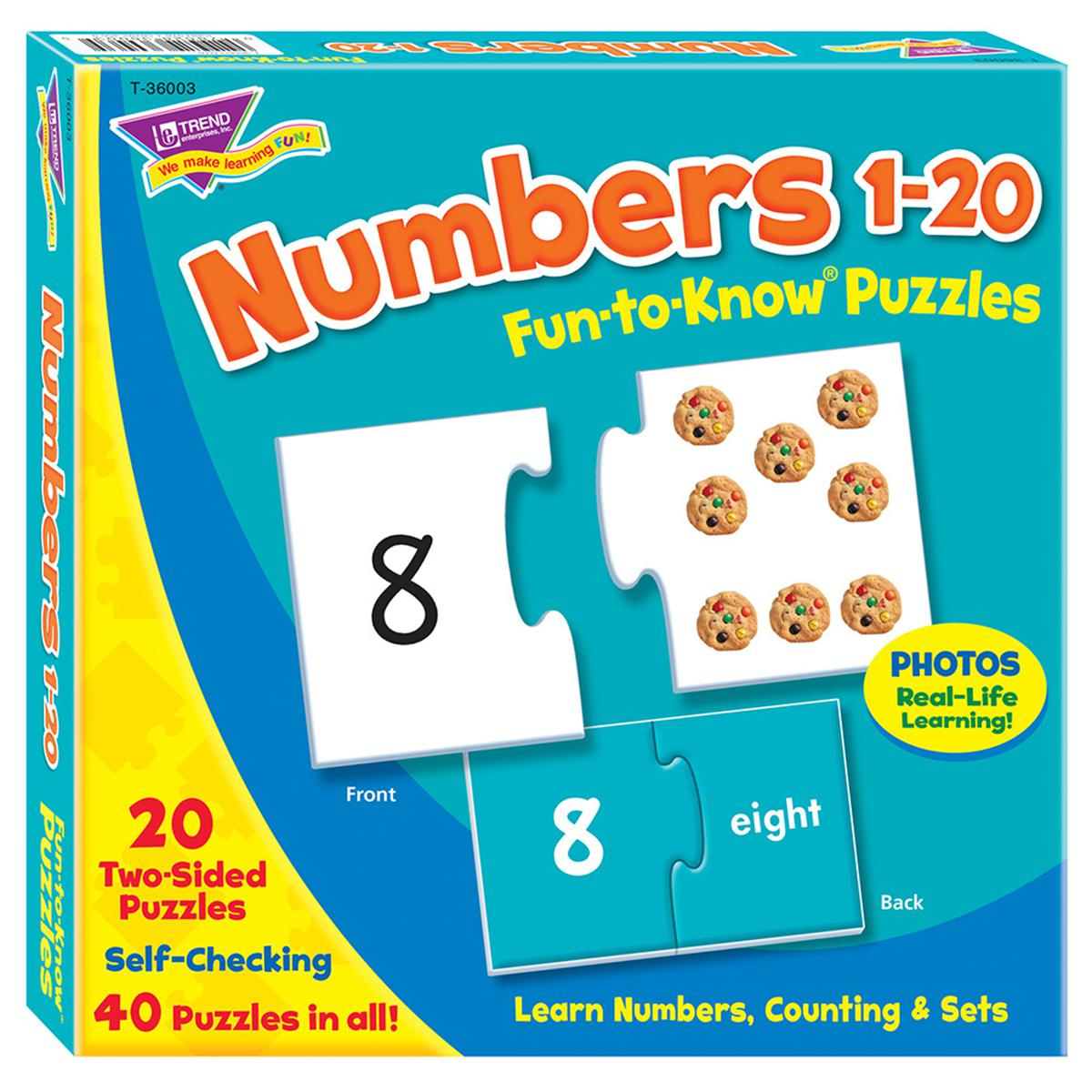 Fun to Know Puzzles: Numbers 1-20