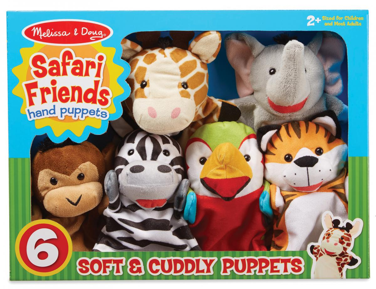 Safari Friends Hand Puppets