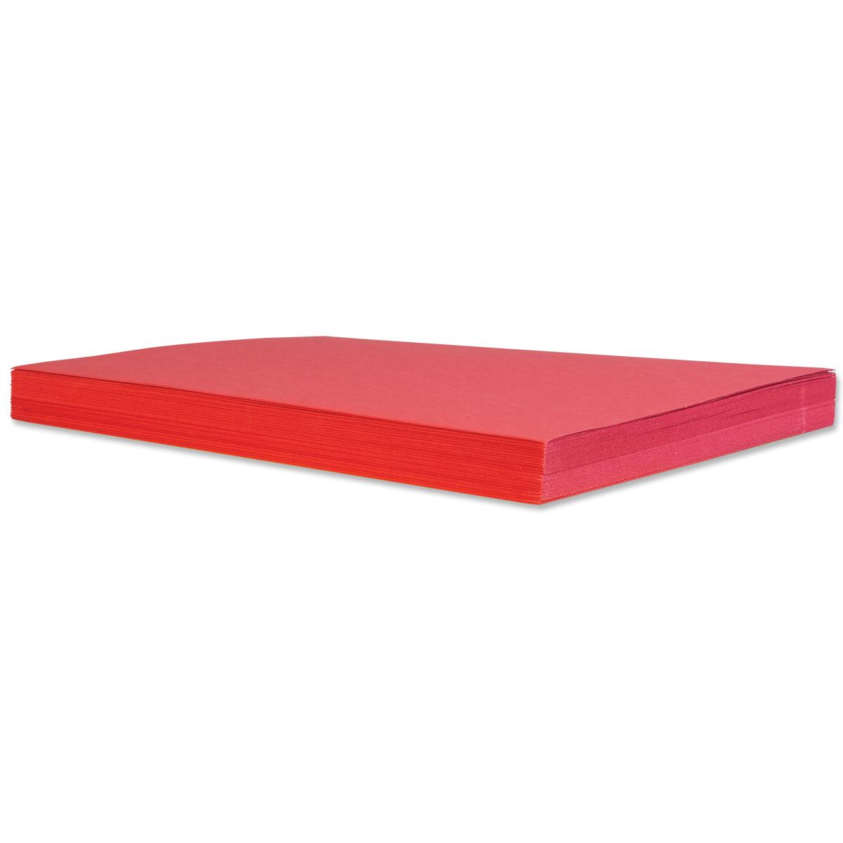 50 feuilles de papier de bricolage : rouges