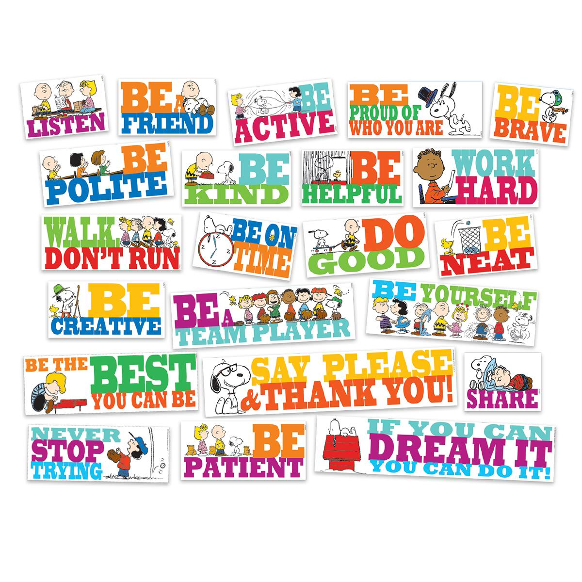 Peanuts® Be All You Can Be Bulletin Board Set