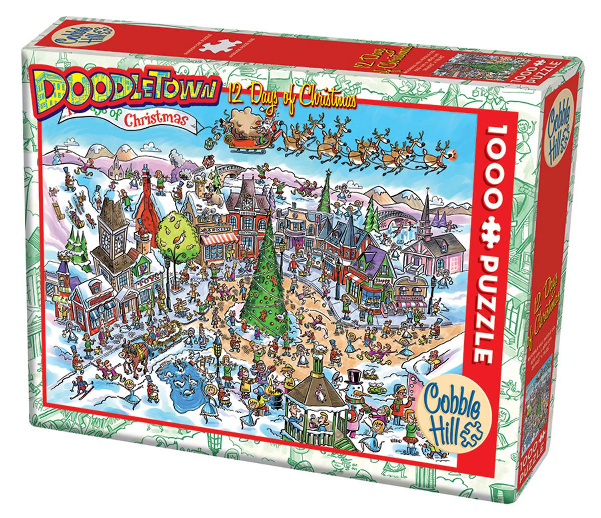 Doodletown 12 Days of Christmas 1000 Piece Puzzle