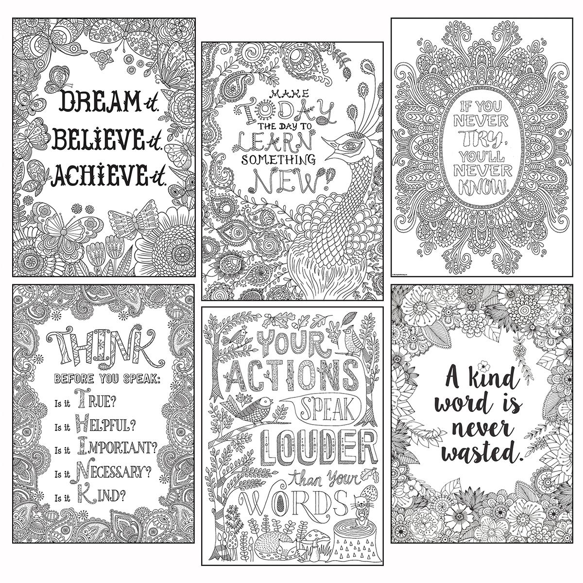 Colour-Me Inspire-U Poster Set