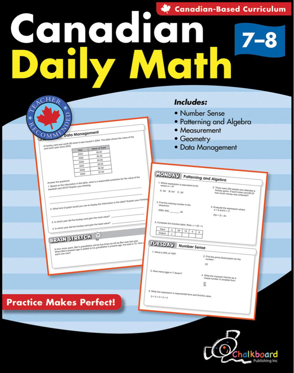 Canadian Daily Math Gr. 7-8