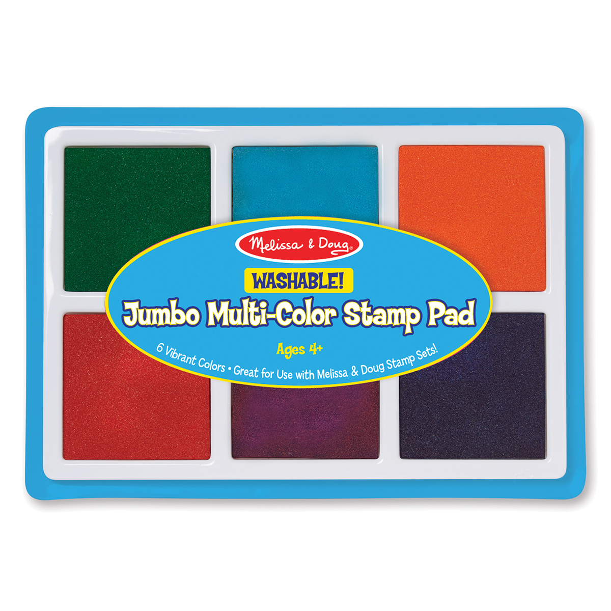 Jumbo Washable 6-Colour Stamp Pads