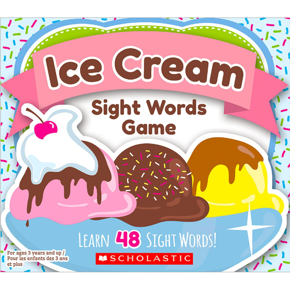 Ice Cream Sight Words Game
