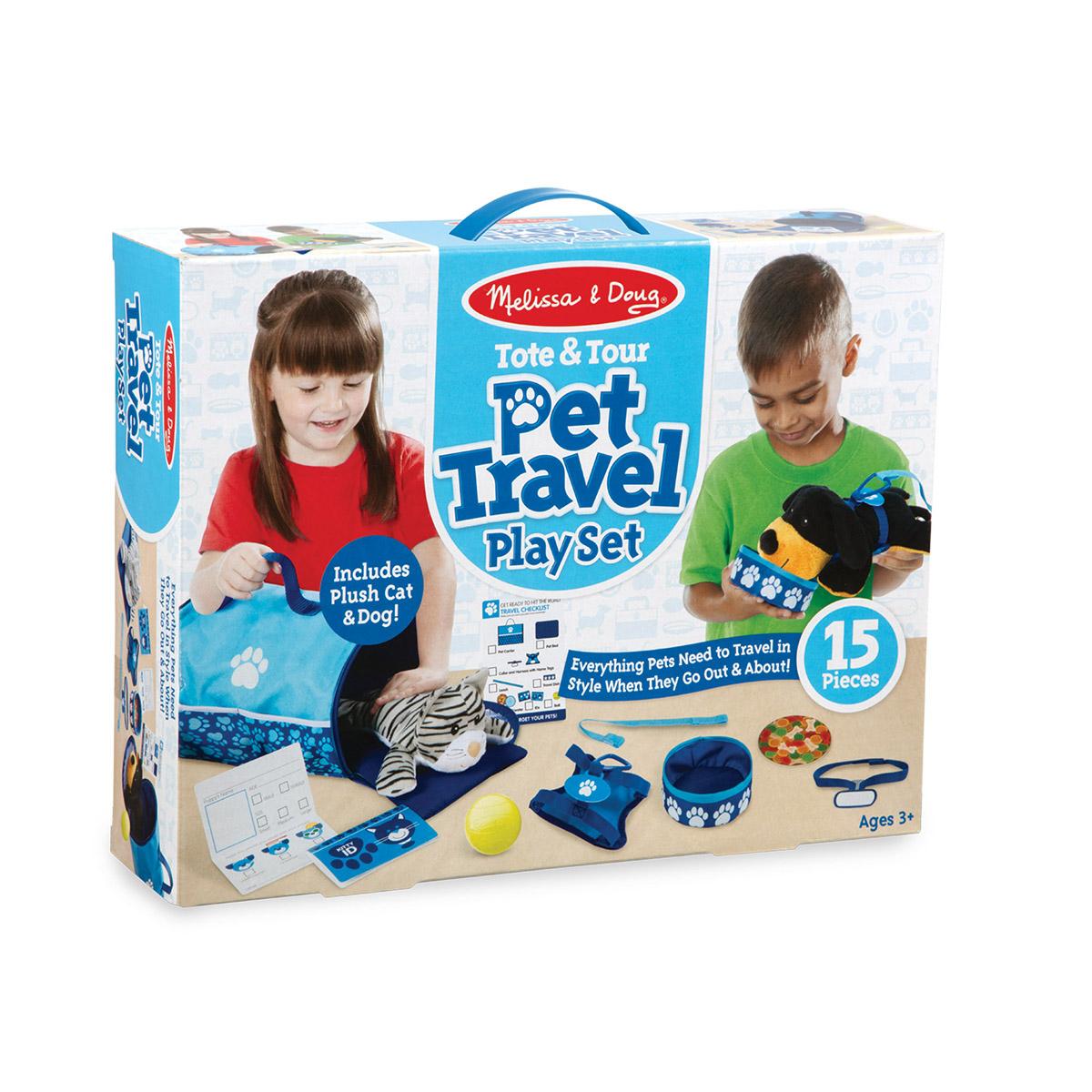 Melissa & Doug: Tote & Tour Pet Travel Play Set