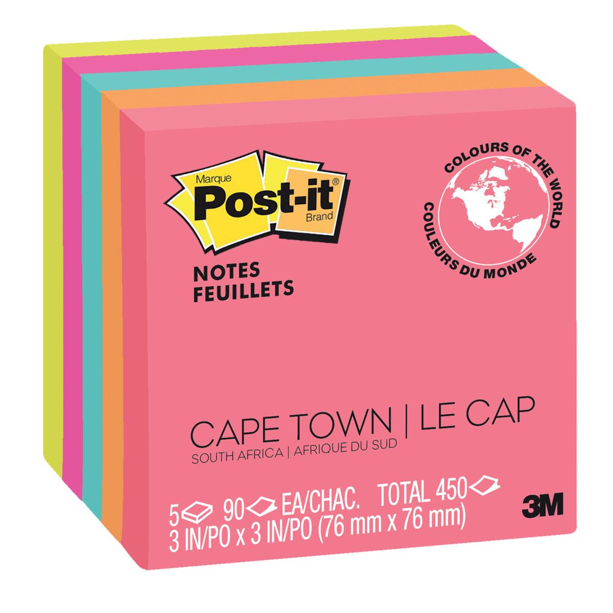 Post-It® Notes: Cape Town Colours