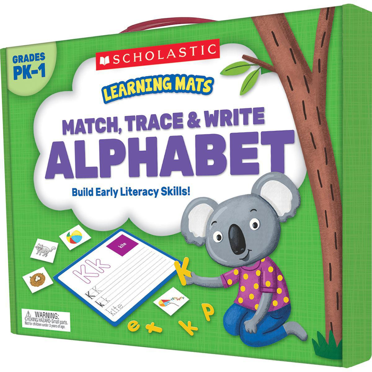 Learning Mats: Match, Trace & Write Alphabet