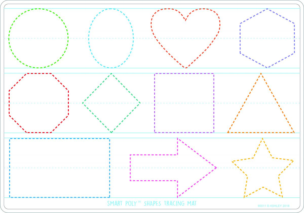 Smart Poly Learning Mats: Prewriting and Shapes 10-Pack