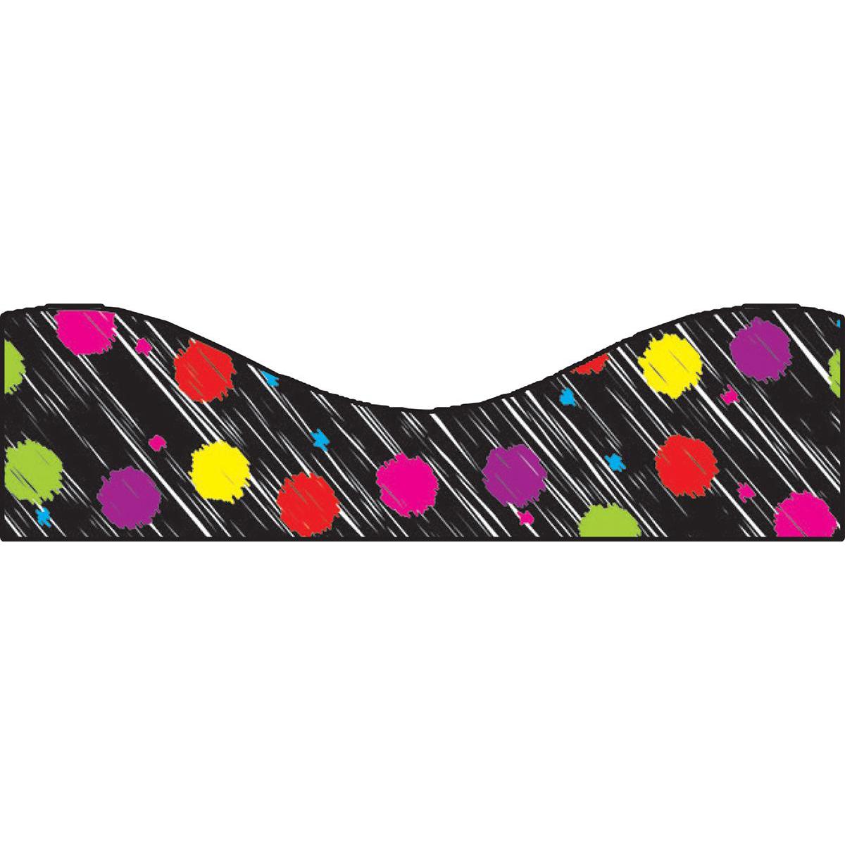 Black Scribble Colour Dots Magnetic Border Trimmer