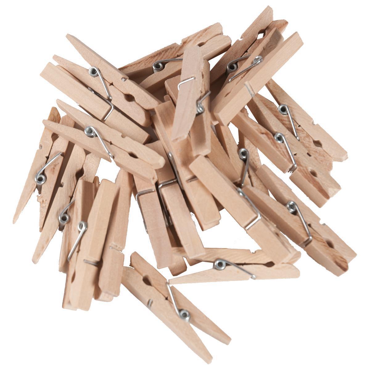 Mini pinces à linge en bois