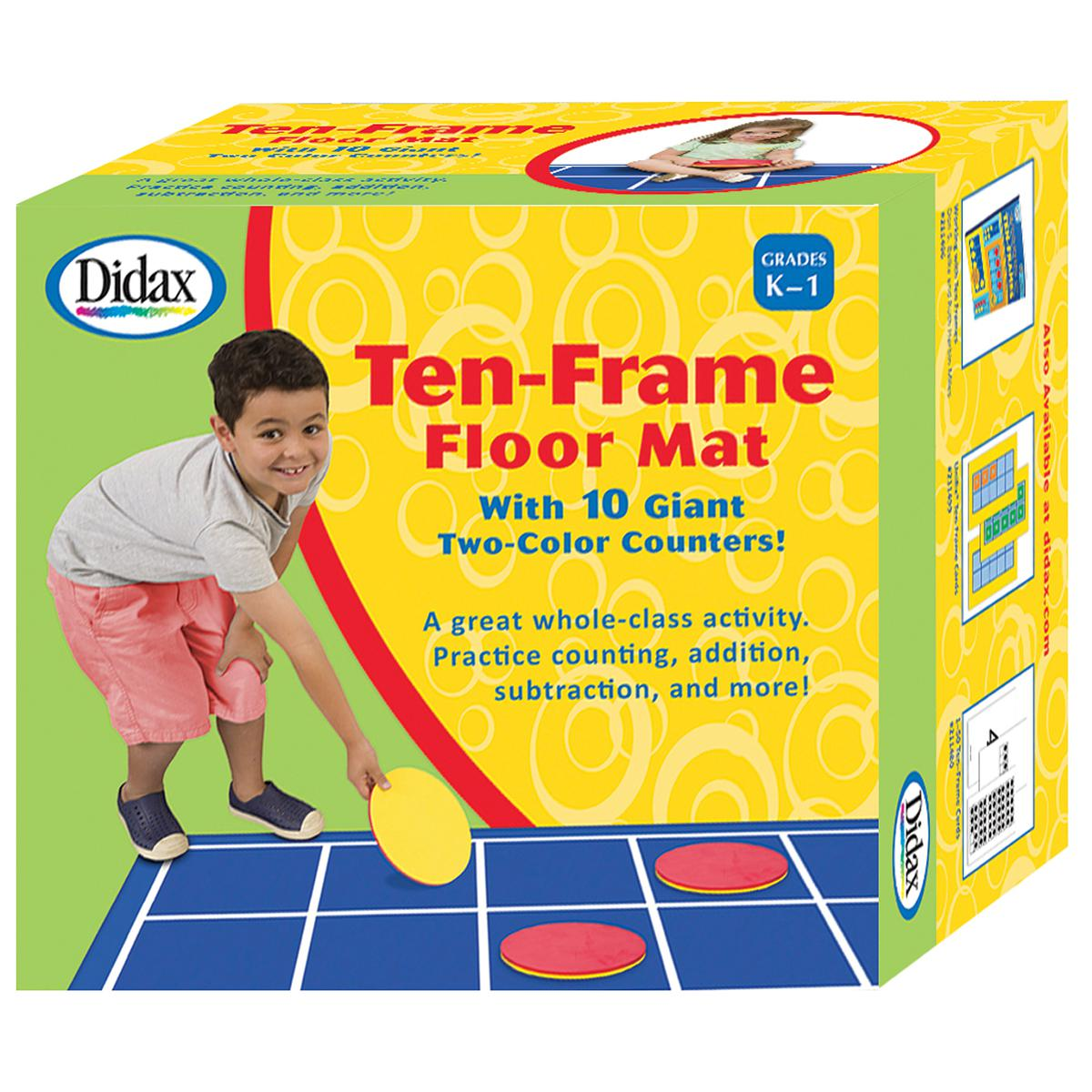 Giant Ten-Frame Floor Mat with Counters