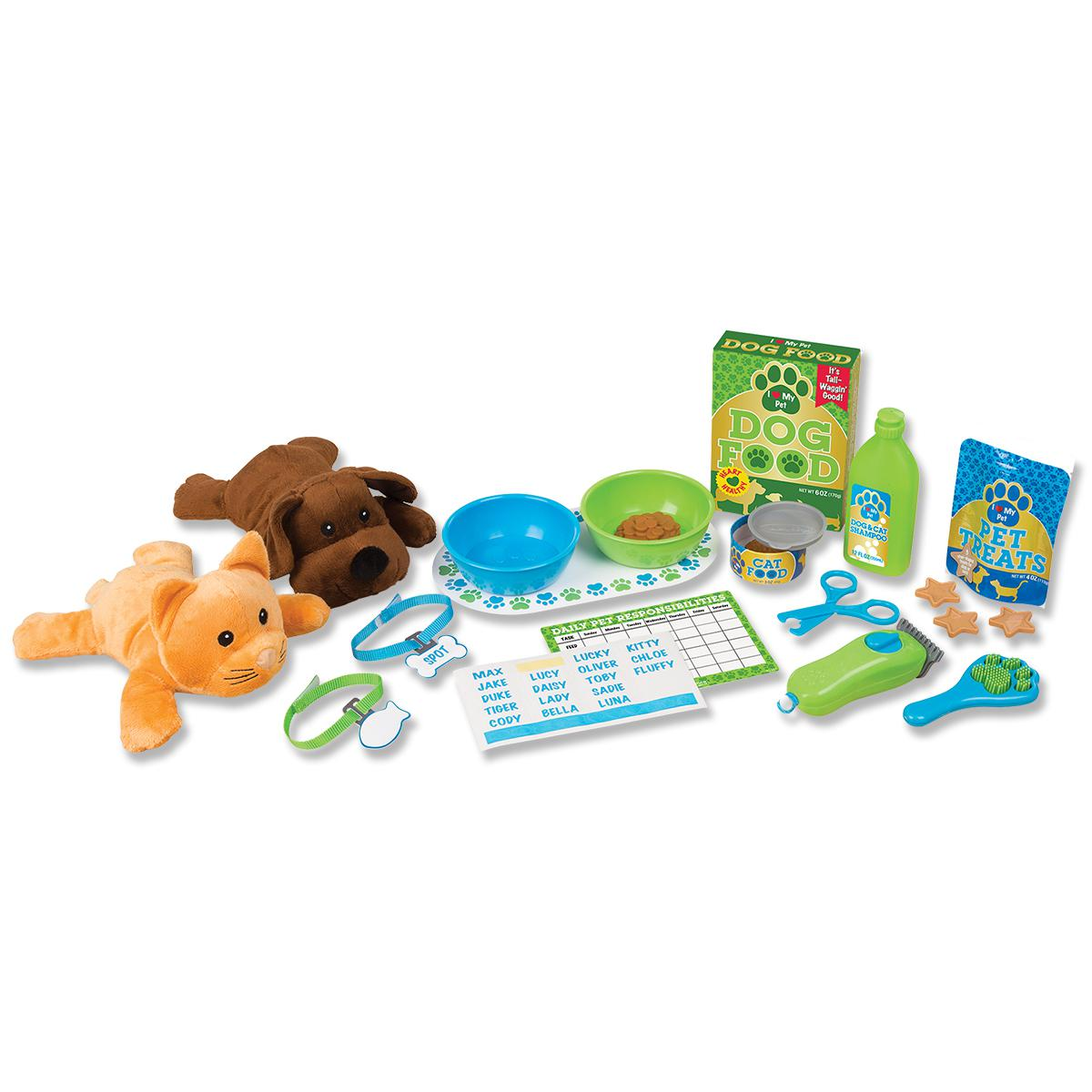 Pet Care Play Set Feeding & Grooming