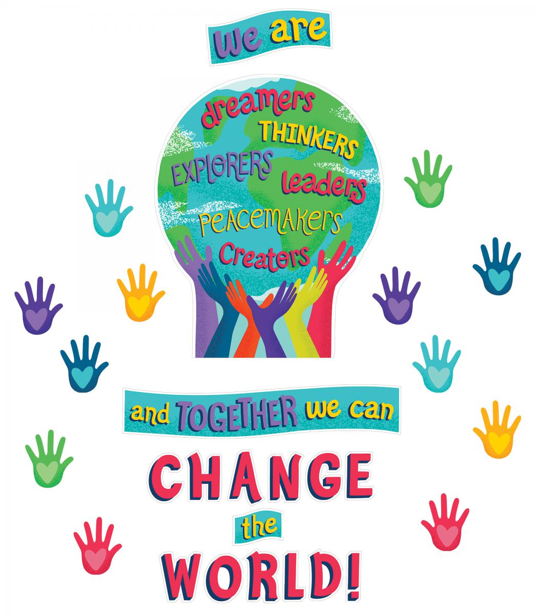 Together We Can Change the World Bulletin Board Set