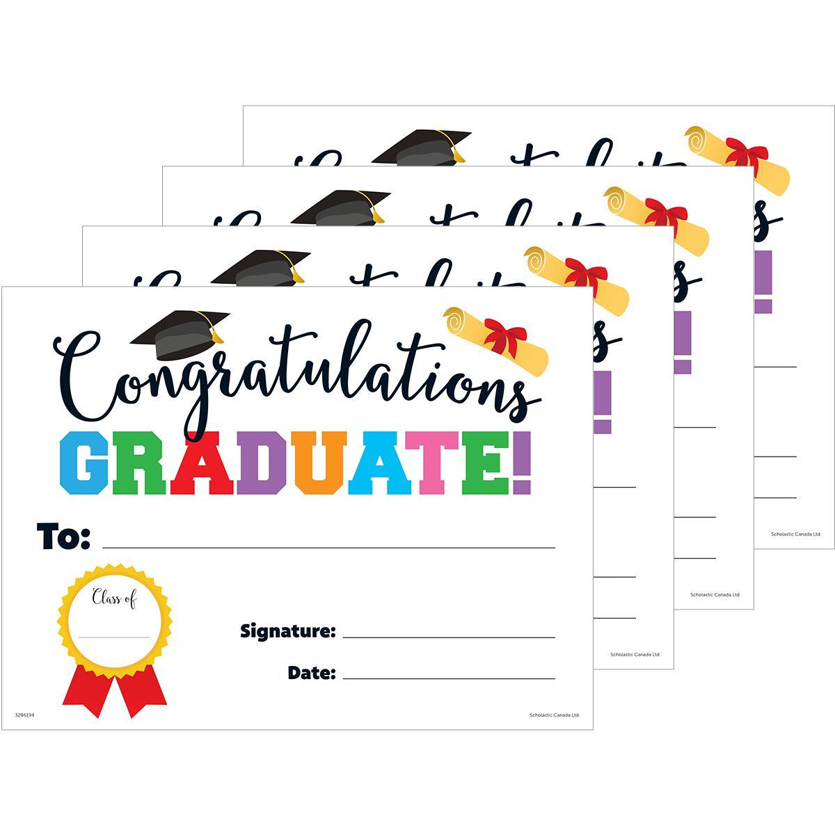 Congratulations Graduate! Diplomas 30-Pack