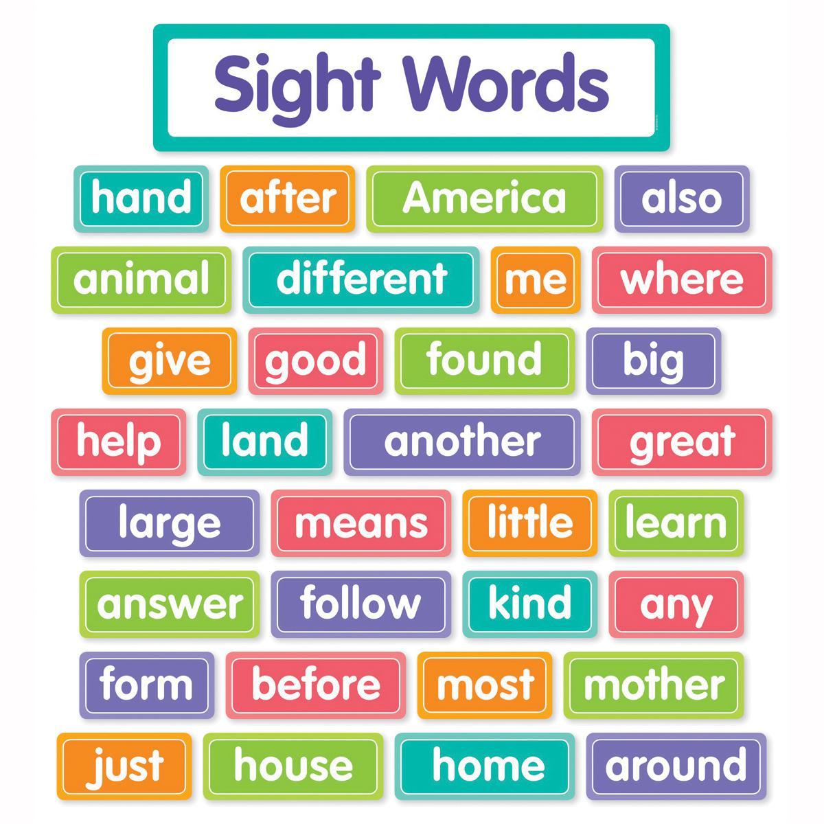 More Sight Words Bulletin Board Set