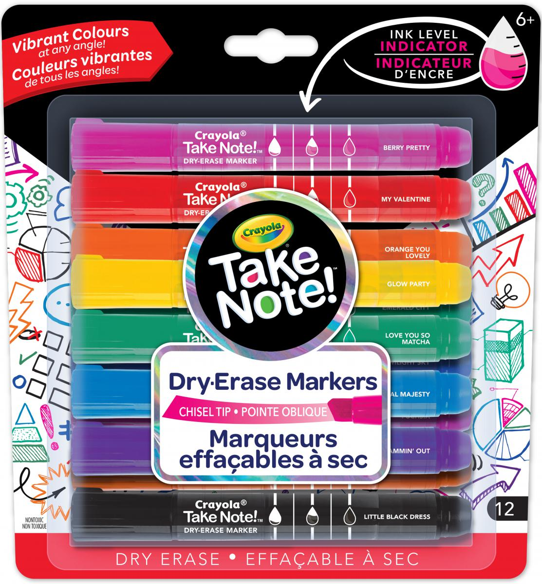 Crayola®: Take Note! Dry-Erase Markers 12-Pack