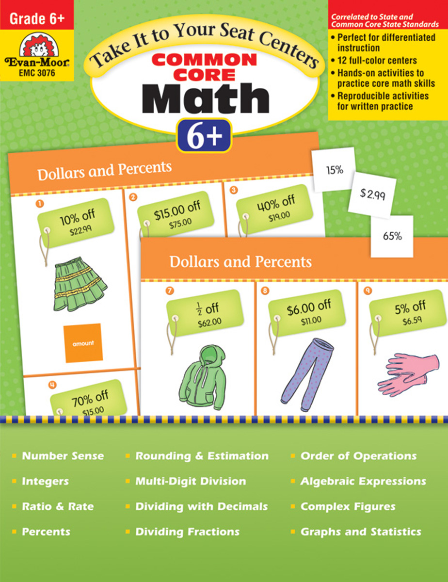 Take It to Your Seat Centers: Common Core Math Grade 6+