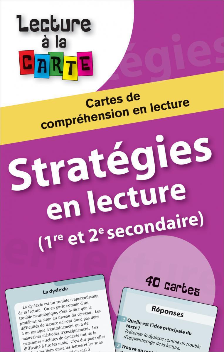 Lecture à la carte: Stratégies en lecture 1er cycle secondaire