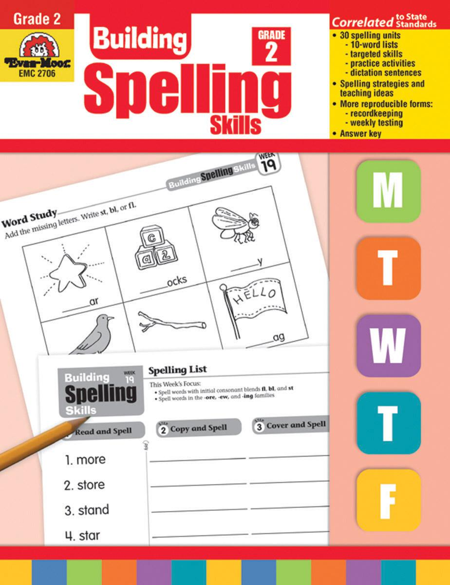 Building Spelling Skills Grade 2