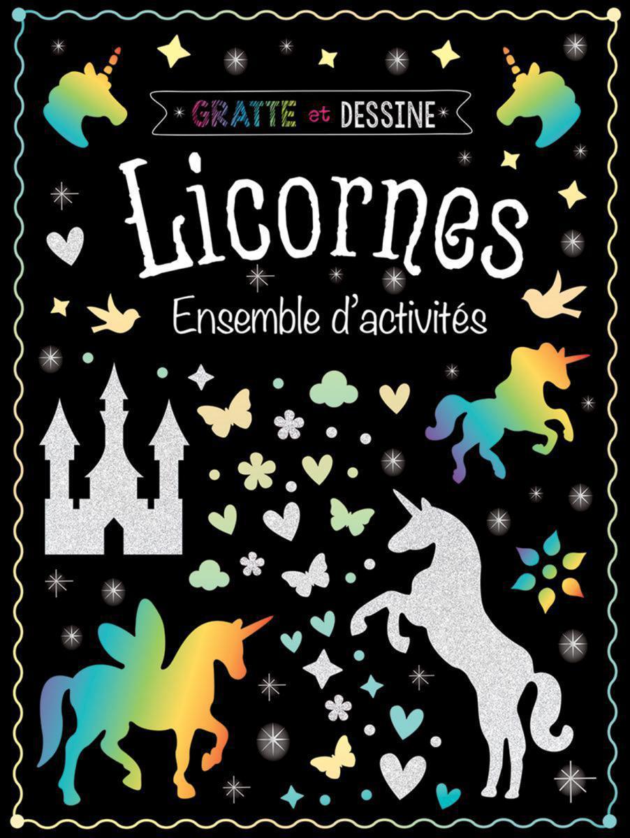 Gratte et dessine : Licornes Ensemble d'activités