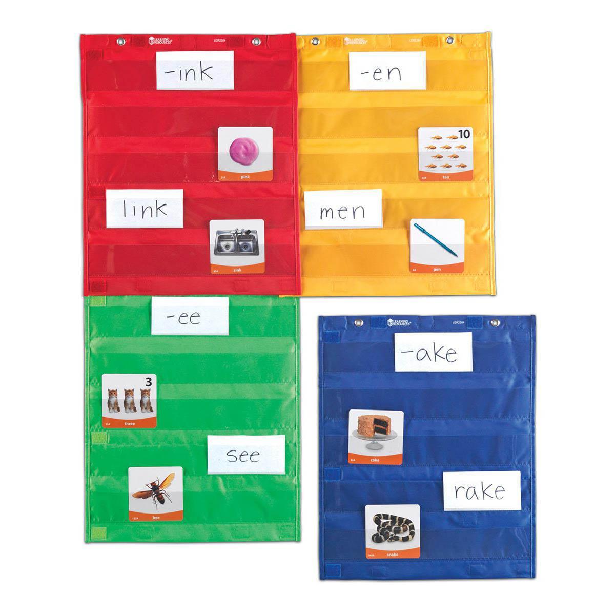 Ensemble de 4 tableaux à pochettes magnétiques
