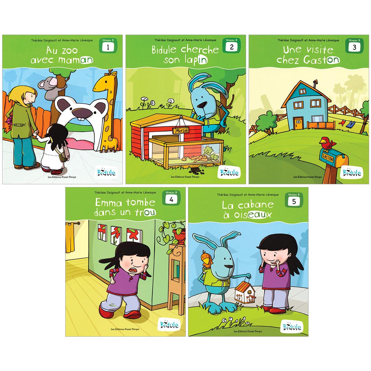 Livrets Bidule : niveau B, livres 1 à 5