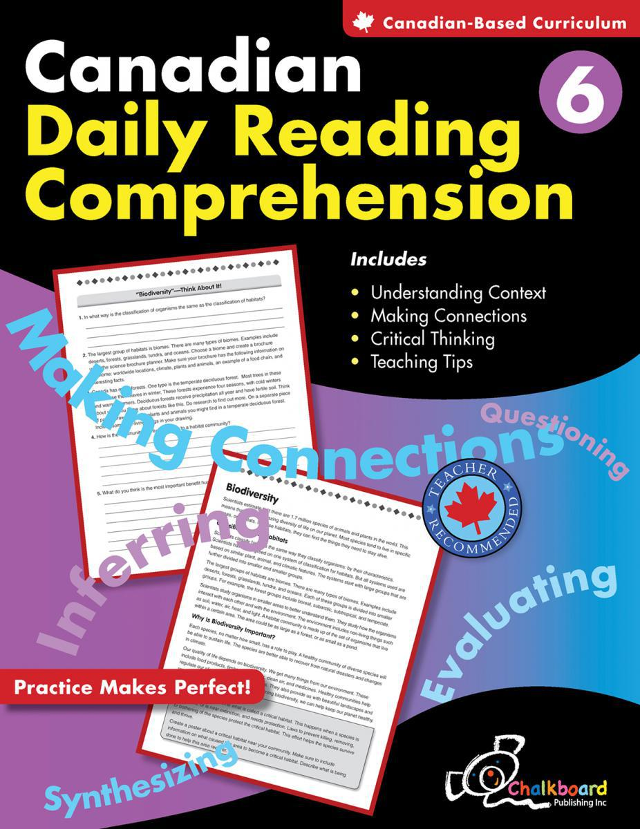 Canadian Daily Reading Comprehension Gr. 6
