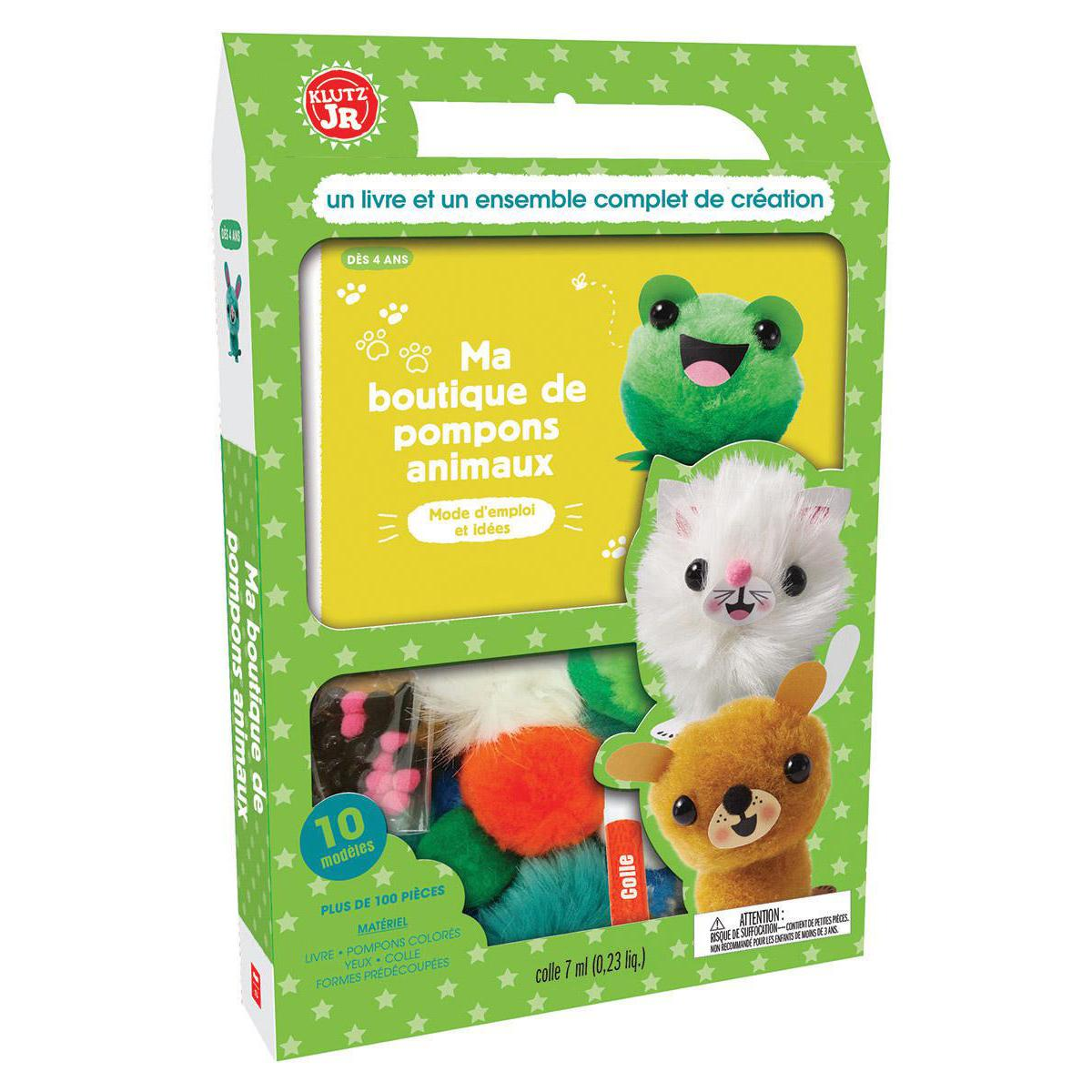 Klutz JR : Ma boutique de pompons animaux
