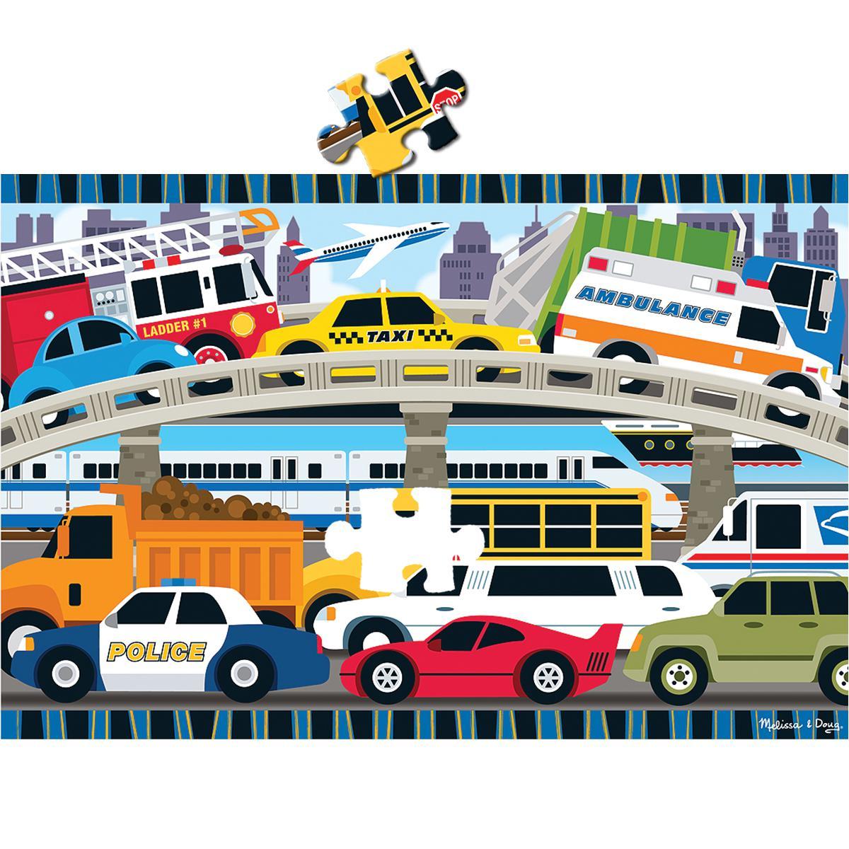 Traffic Jam Floor Puzzle