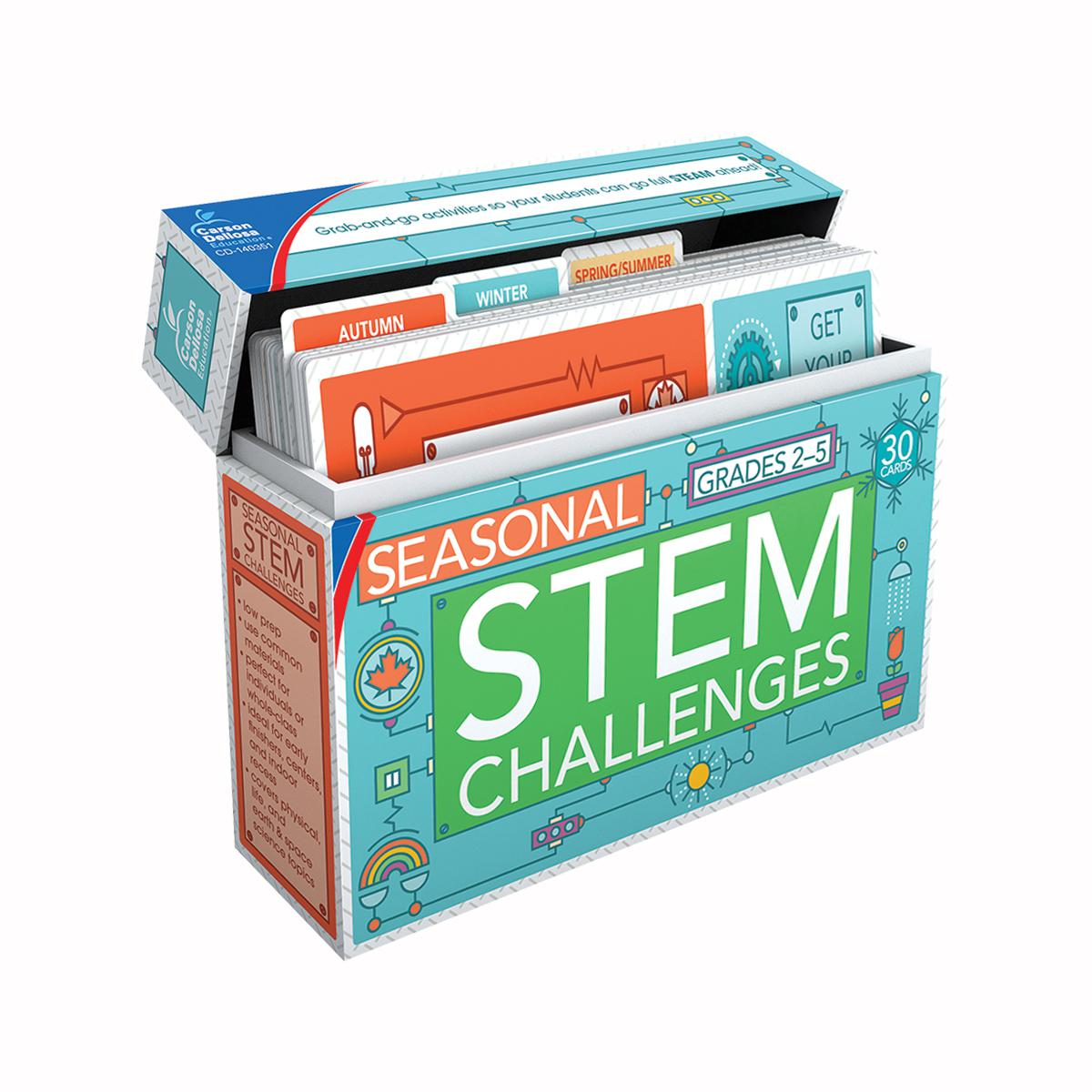Seasonal STEM Challenges Learning Cards: Grades 2-5