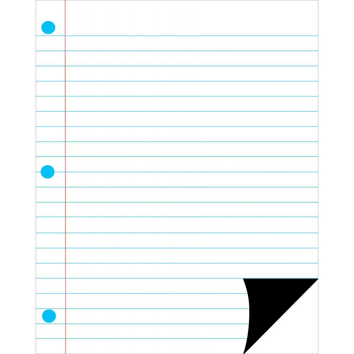 Magnetic Notebook Page: Large