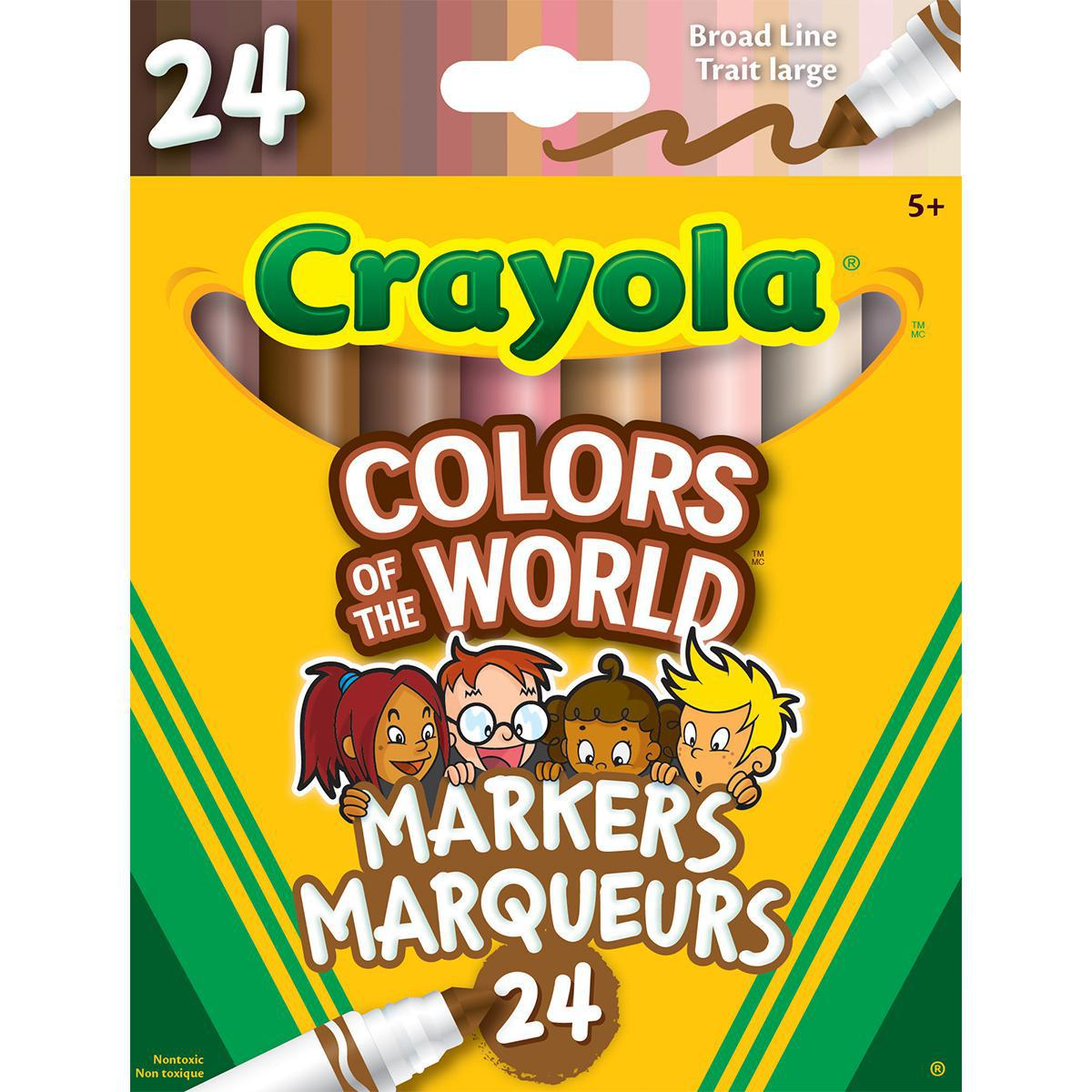 Crayola Colors of the World  Markers 24-pack